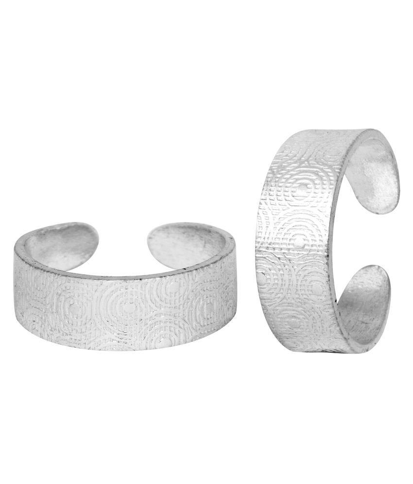 Iconic Plain Comfortable Silver Toe Ring-TRRD007