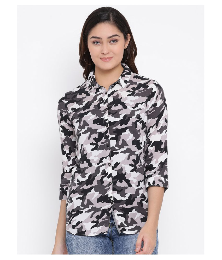 Crimsoune Club Multi Color Viscose Shirt