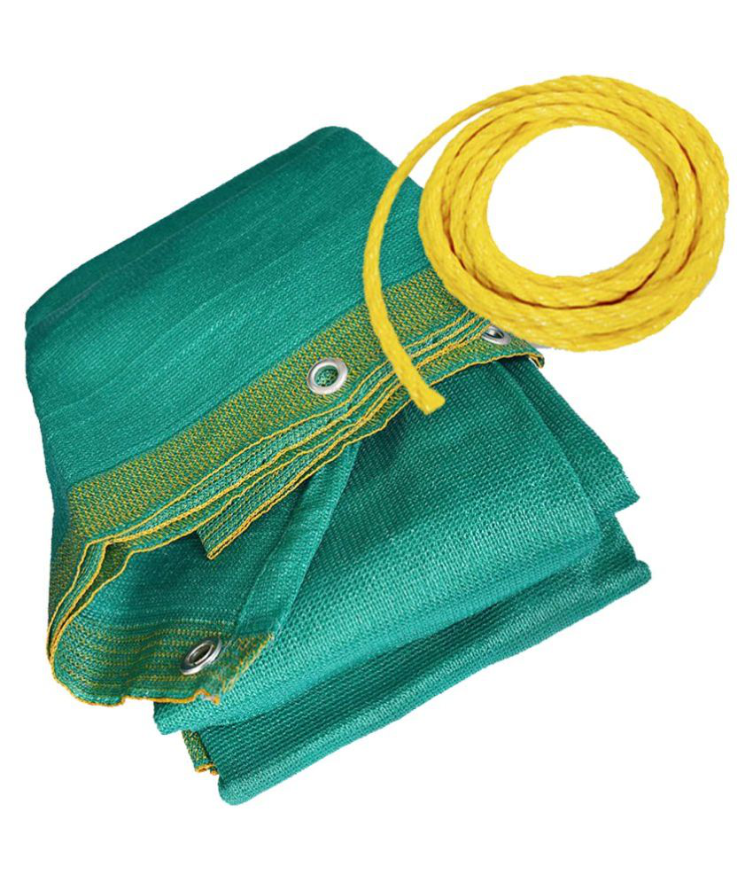 Mipatex Garden Shade Net 3x5 Meter, 50% UV Stablized Fencing Net with Aluminium Eyelets & Rope (Green 10x16 Ft)