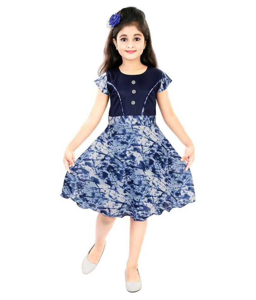 Karni Prints Party Wear Frock Dress For Girls