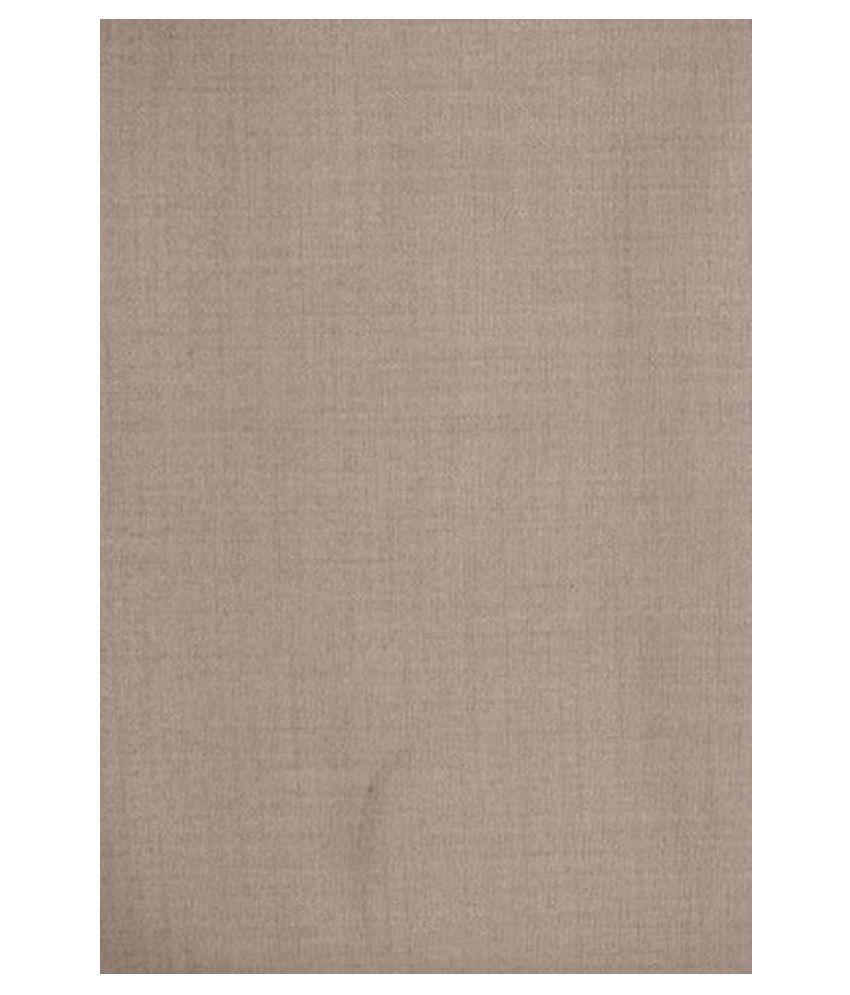 Dearman Gwalior Suitings Beige Cotton Blend Unstitched Suit Piece