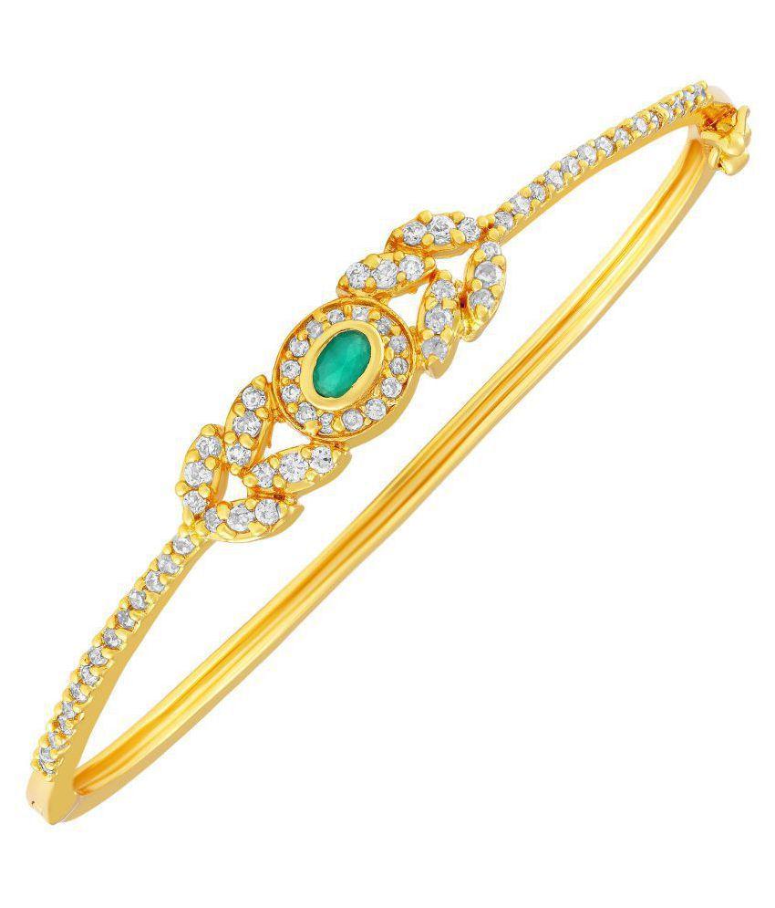 MFJ Fashion Jewellery Wedding Collection Long-lasting Single Bracelet Kada For Women (Set of 1)