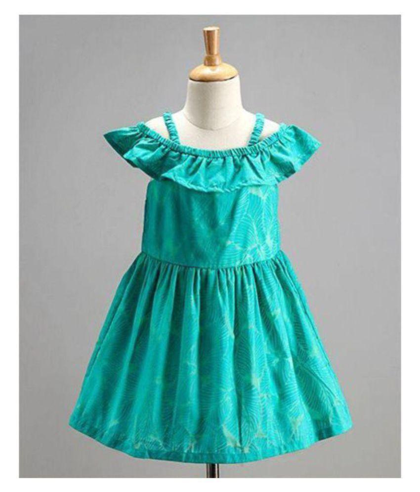 SPRING BUNNY - Toddler Girl 'Fern' Green Dress.