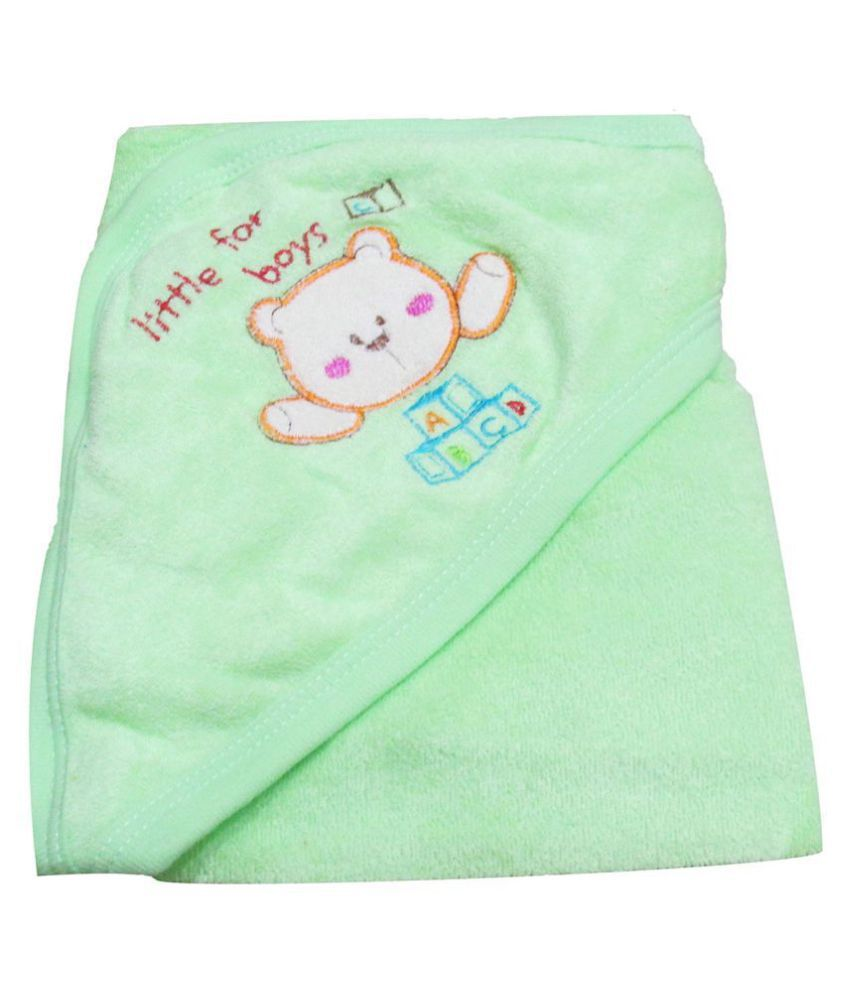 VBaby Green Fleece Baby Blanket ( 73 cm × 73 cm- 1 pcs)