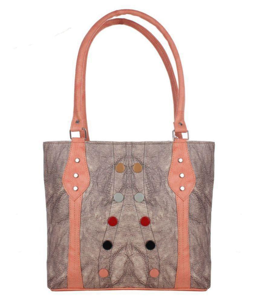 Ankita Fashion World Light Gray Faux Leather Shoulder Bag