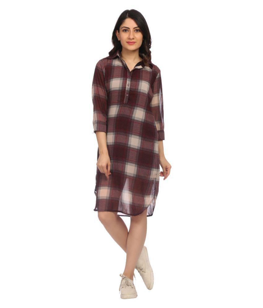KAPOOR BROTHERS Polyester Multi Color Regular Dress