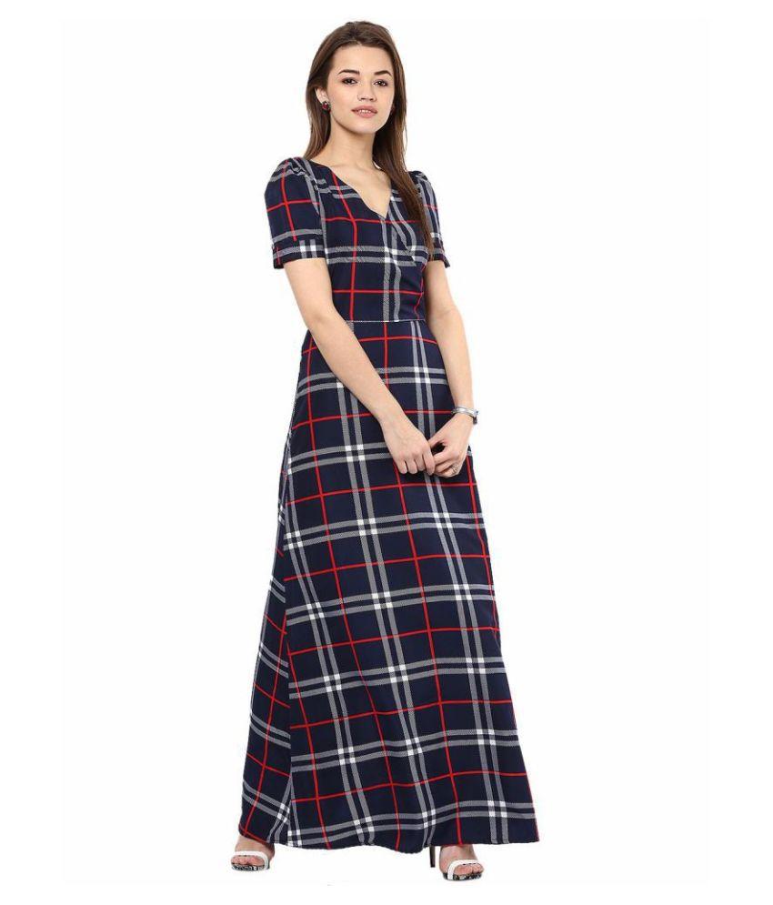 La Zoire Crepe Multi Color Regular Dress