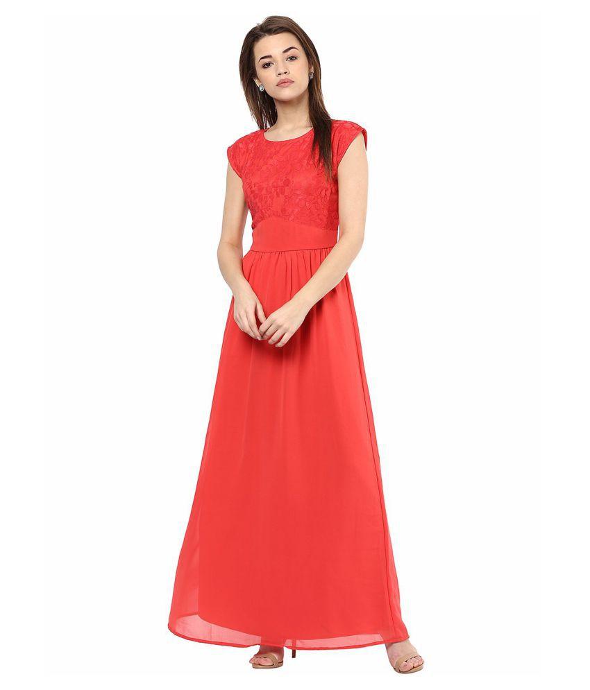 La Zoire Georgette Pink Regular Dress