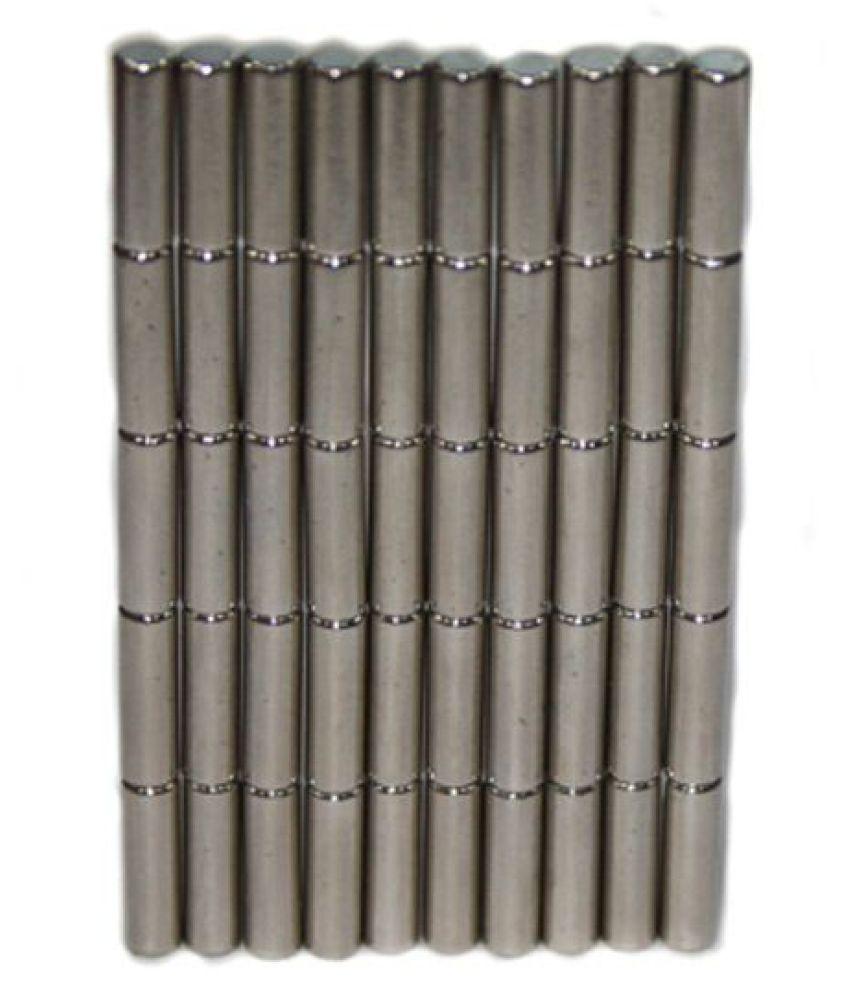 TechtoneMagnetics Strong Neodymium Magnets 3mm X 10mm Cylinder Shaped- 50 Pcs