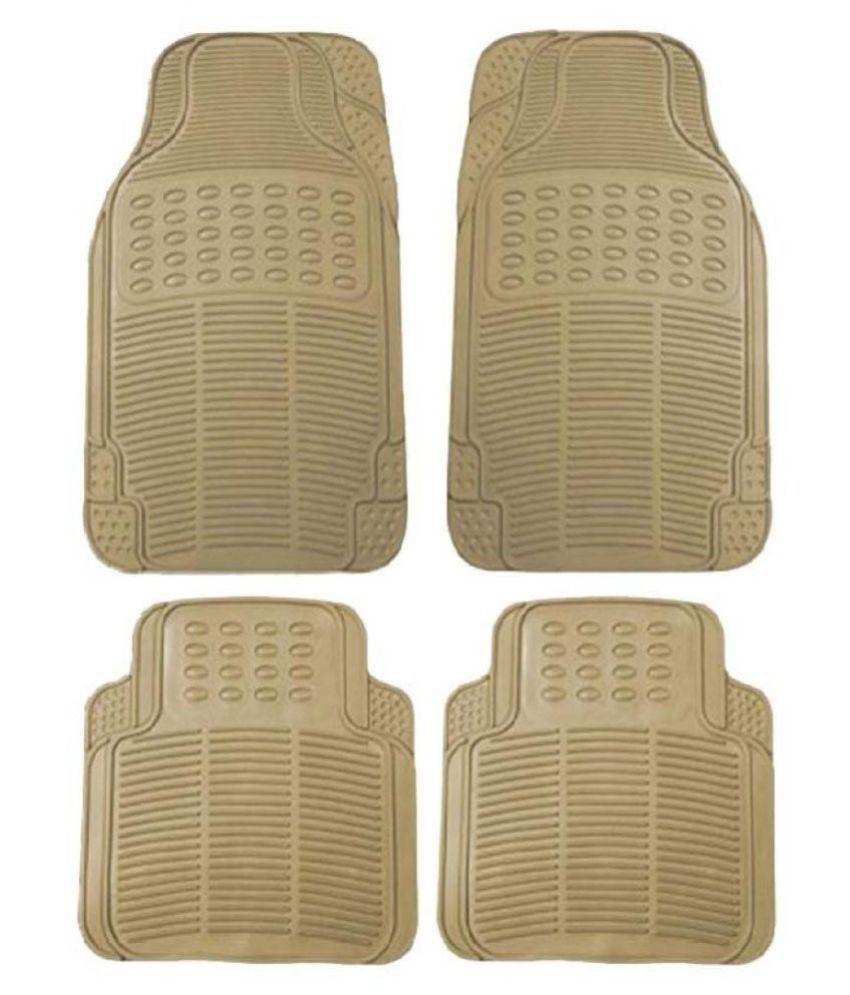Autofetch Rubber Car Floor/Foot Mats (Set of 4) Beige for Nissan Sunny