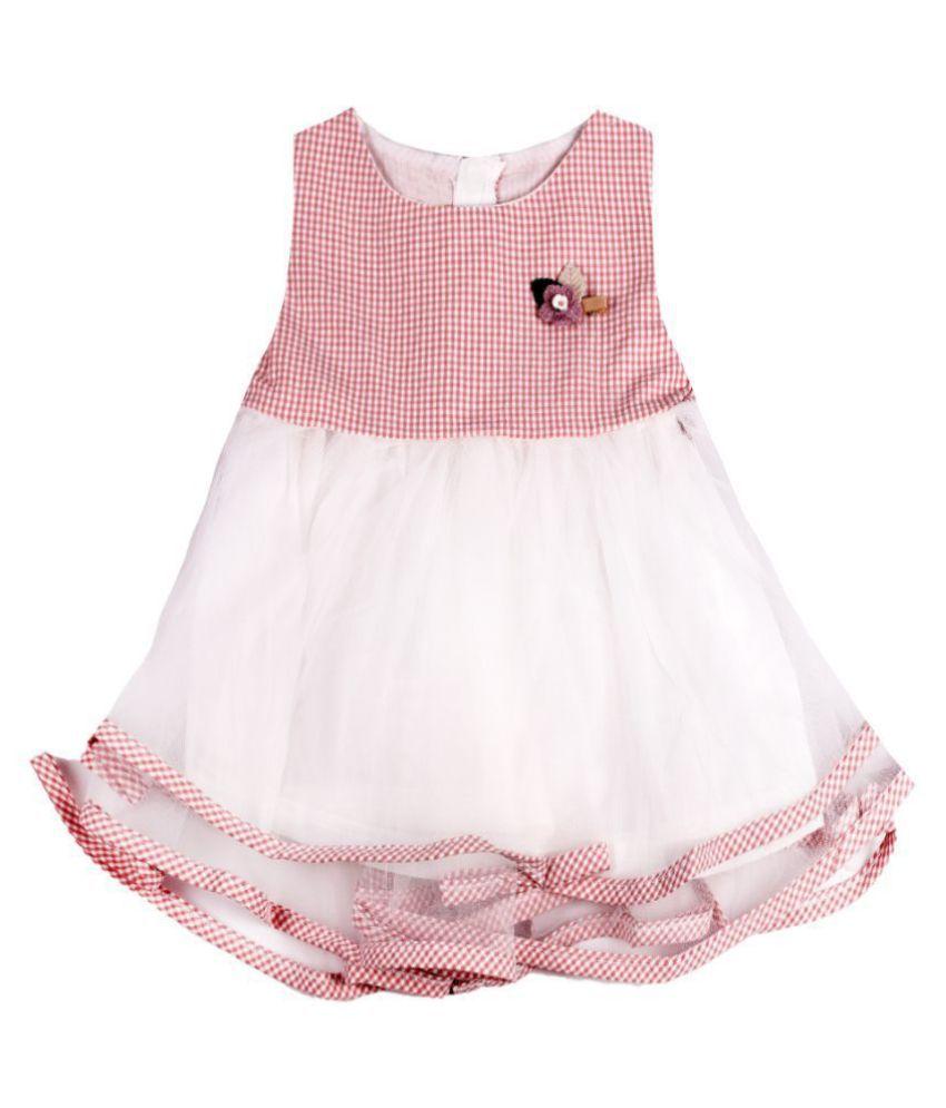 Dorokids Baby Girl Cotton Ner Flared Hem Dress