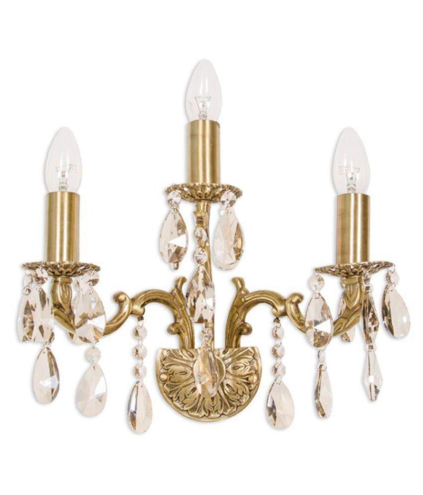 Fos Lighting Brass Wall Light Crystal Wall Light Gold - Pack of 1