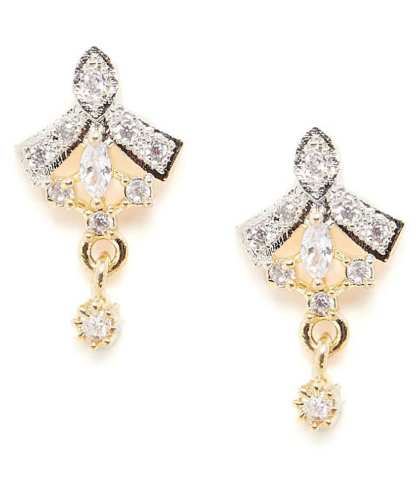 ZeroKaata American Diamond Classic Stud Earrings