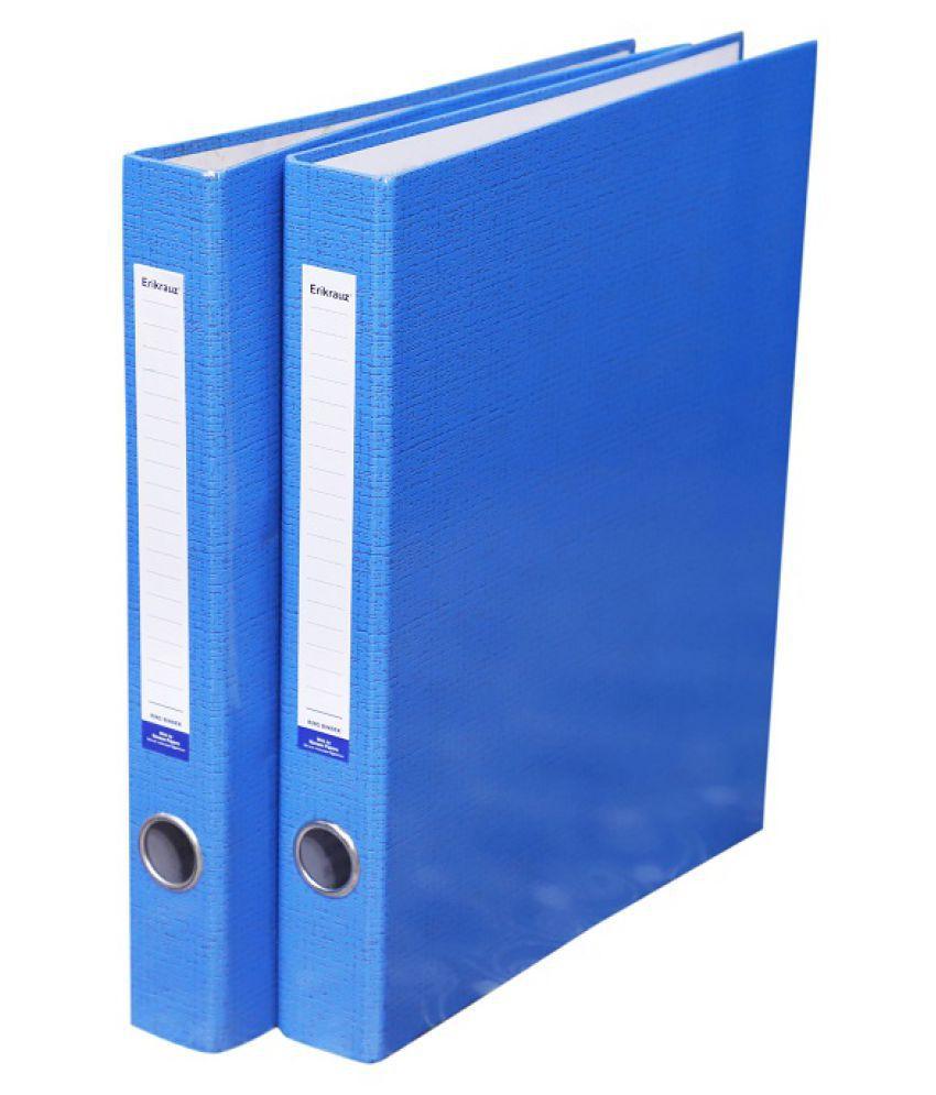 ERIKRAUZ 2-D PREMIUM RING BINDER BOX FILE (SET OF 2 PC) BLUE