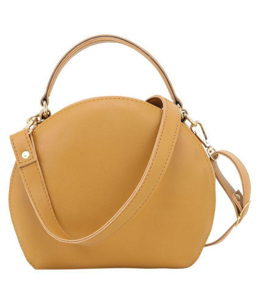 ROVOK Golden Brown P.U. Sling Bag