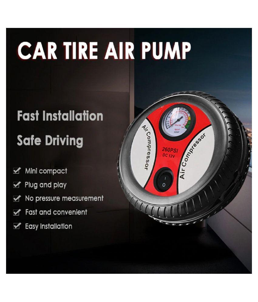 SHARUJA Car Tyre Inflator Analogue Gauge 12 V DC