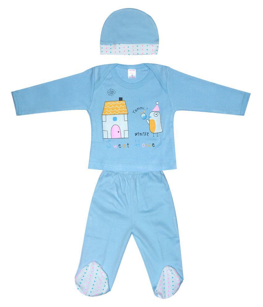 INFANT CARE Boys & Girls Cotton Full Sleeve Bodysuit Set