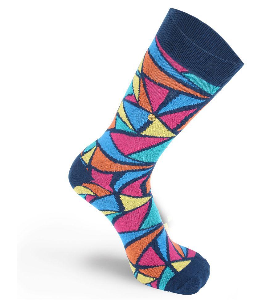 The Moja Club Multi Casual Full Length Socks Pack of 1