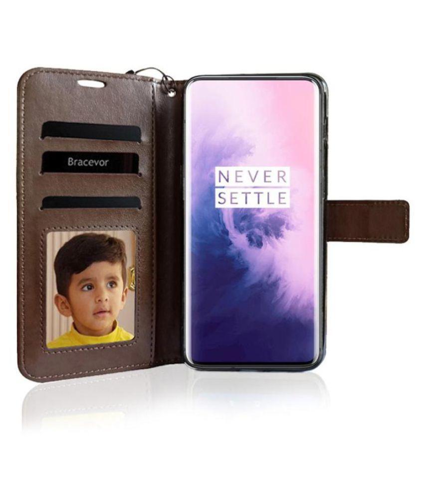 OnePlus 7 Flip Cover by Bracevor   Brown