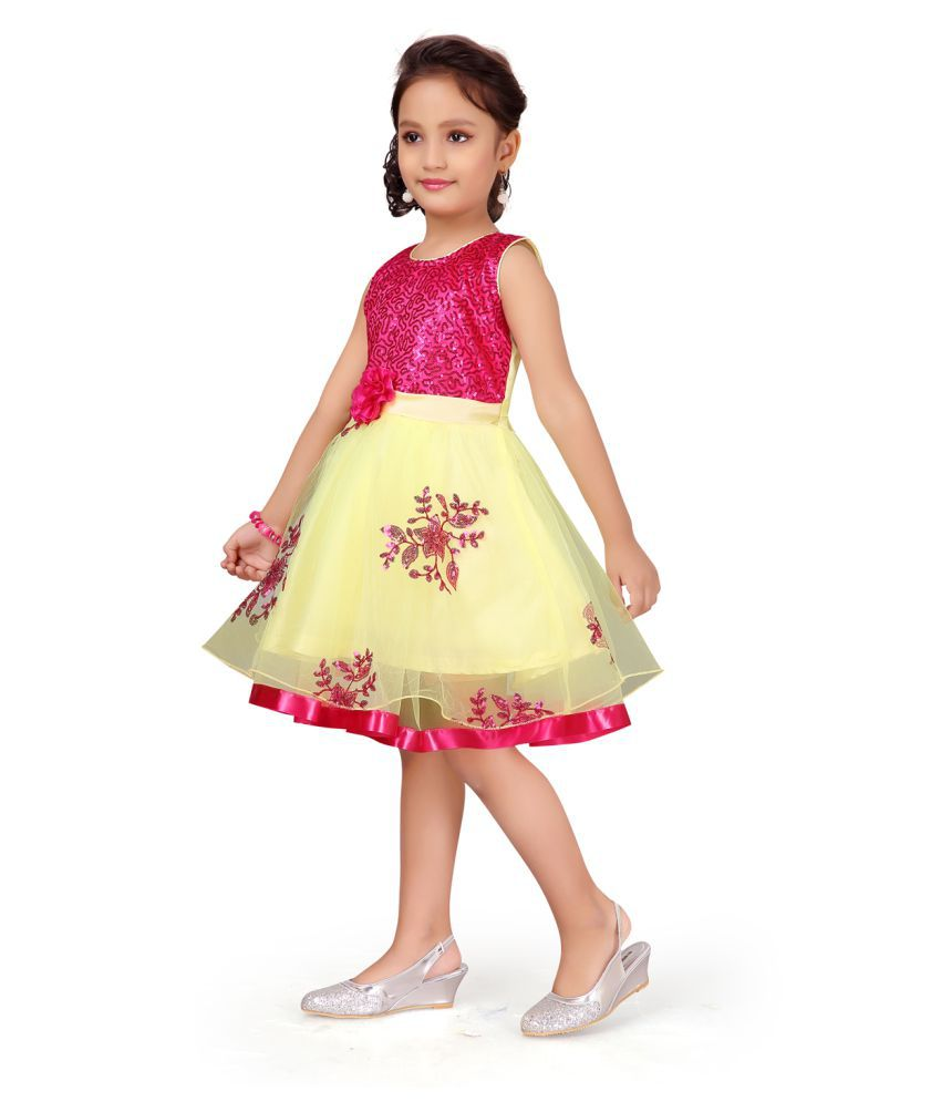 Aarika Girl's multicoloured coloured Casual Wear FROCK