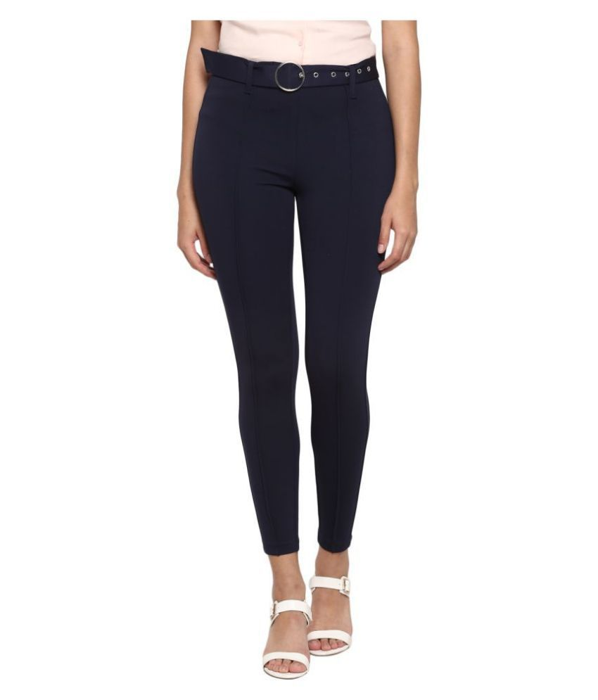 Mode By Red Tape Rayon Jeggings - Navy