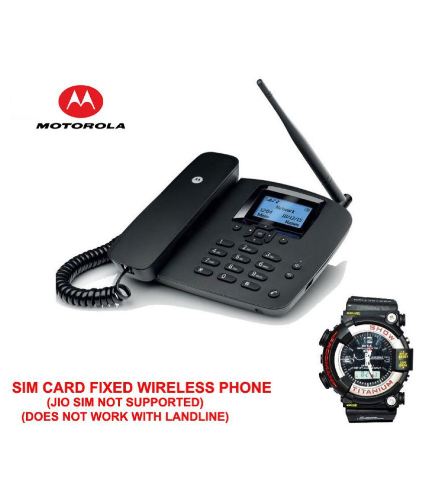 Motorola 200l mtg Wireless GSM Landline Phone ( Black )