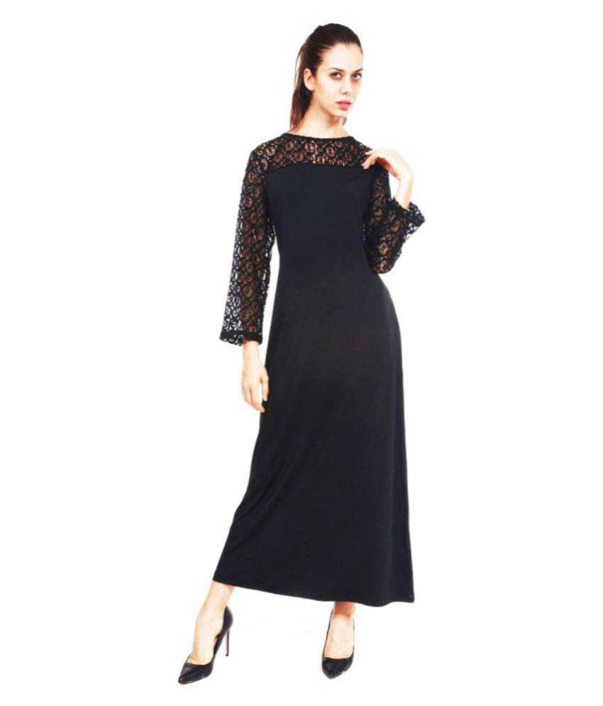 9teenAGAIN Polyester Black Asymmetric dress