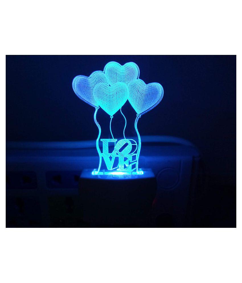 HARBHOLE ENTERPRISE Night Lamp Multi - Pack of 1