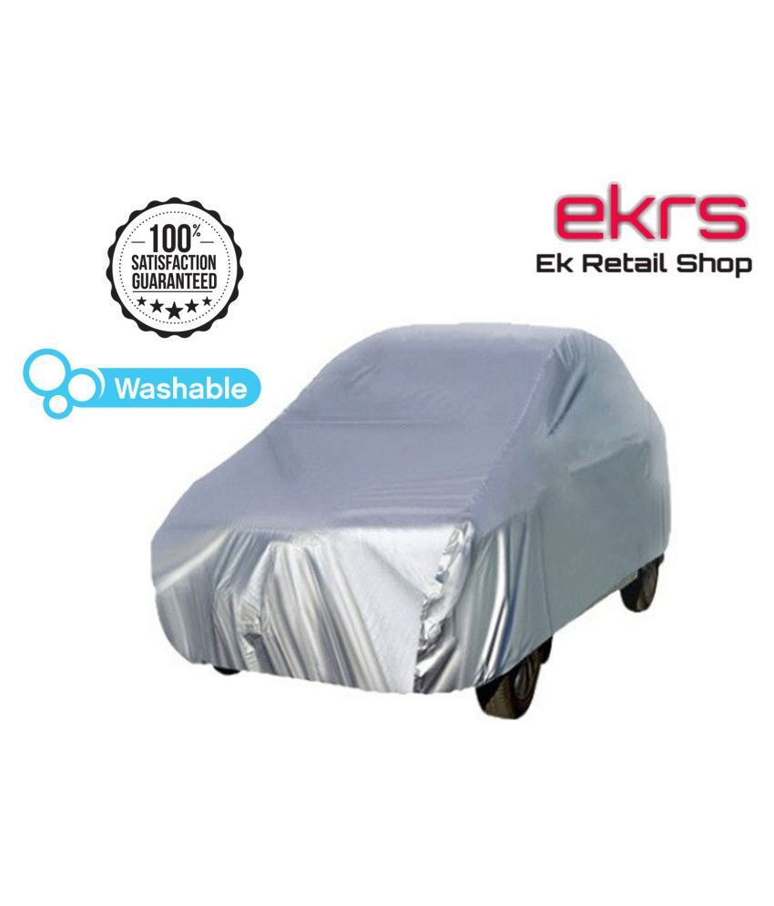 EKRS Silver Matty DUST PROOF Car Body Cover / Car Cover For Maruti Wagon R Stingray VXI with Triple Stitching & Light Weight