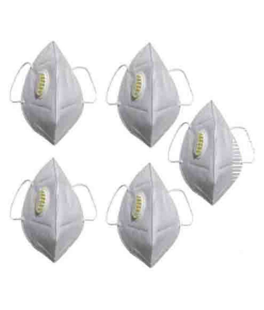 Filtration Efficiency MASK PACK OF 5 PCS WHITE
