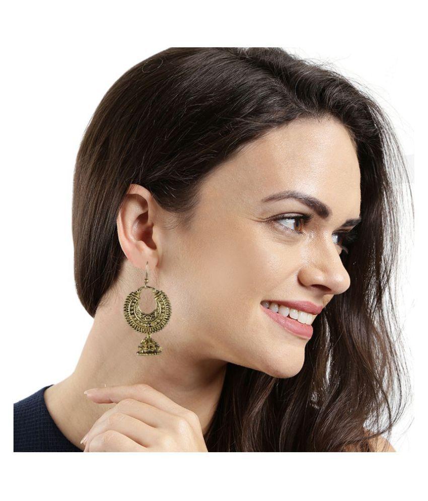 Kord Store Traditionally Round Shape Matt Finish Gold Plated Jhumki Earring For Women