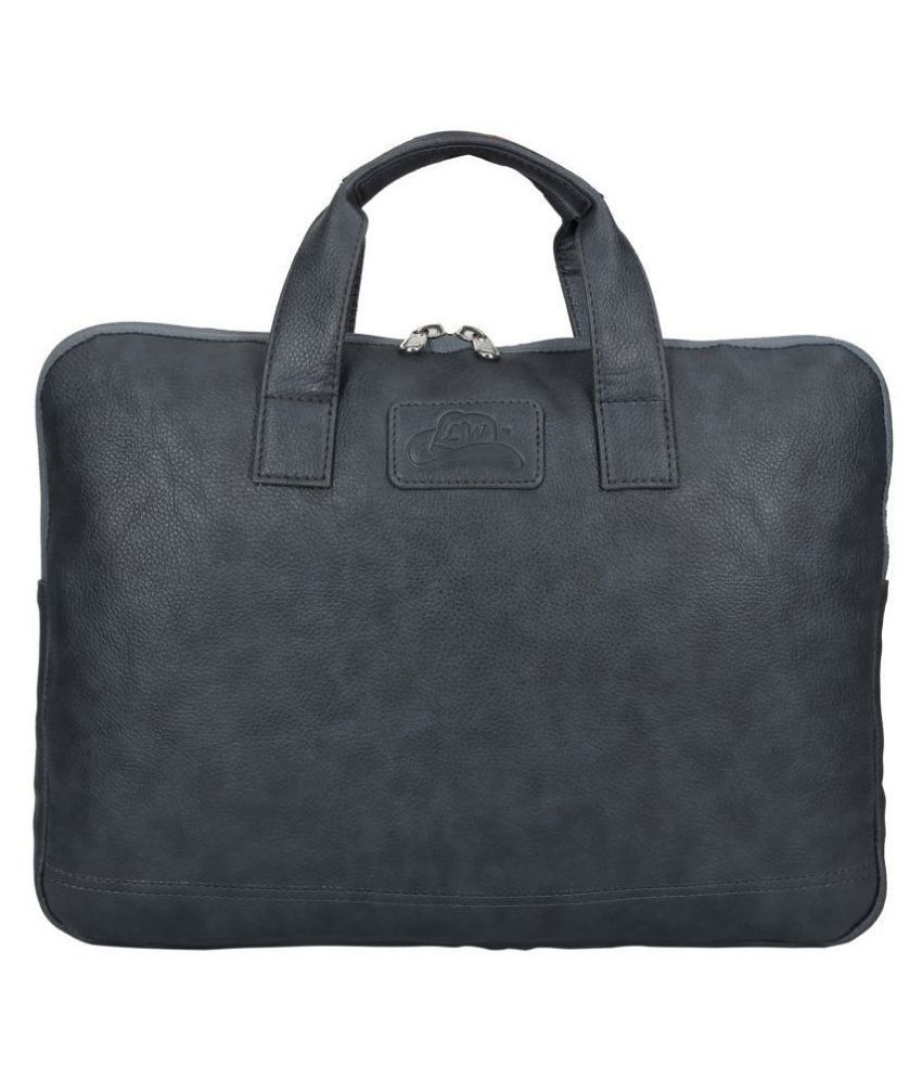 Leather Gifts Only For Laptop Bag Grey P.U. Office Bag