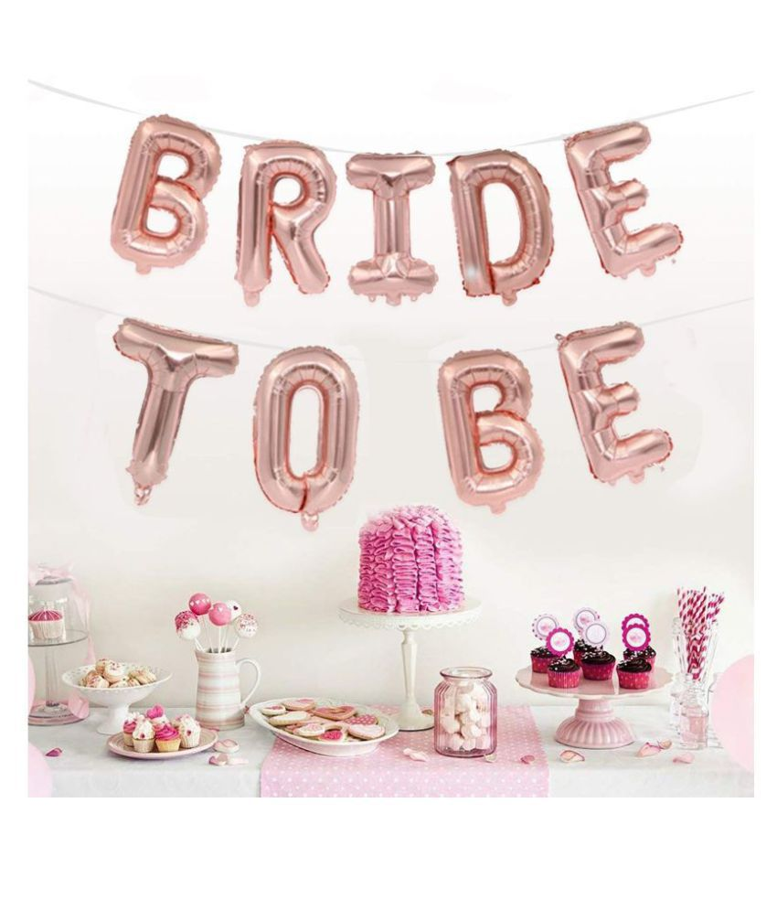 Mountain Traders Rose Gold Party Decorations Heart Foil Balloon Number Balloon Confetti Helium Balloon Wedding Birthday Party Baby Shower Décor (Bride to be Foil Balloons)