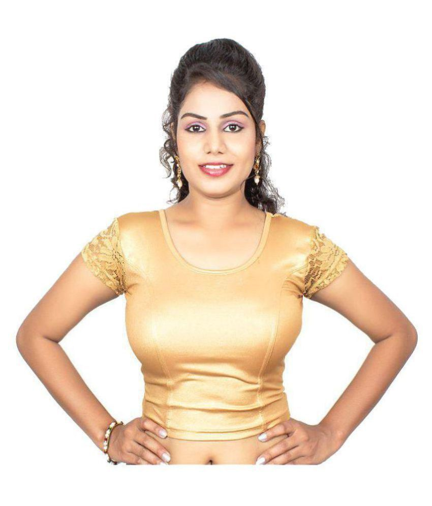 RAJA Gold Shimmer Readymade without Pad Blouse