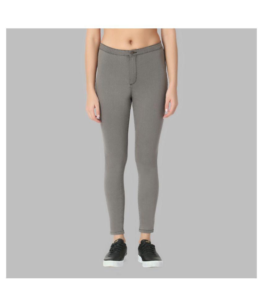 guti Cotton Lycra Jeans - Grey