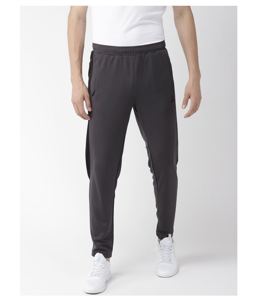 Alcis Black Polyester Trackpants