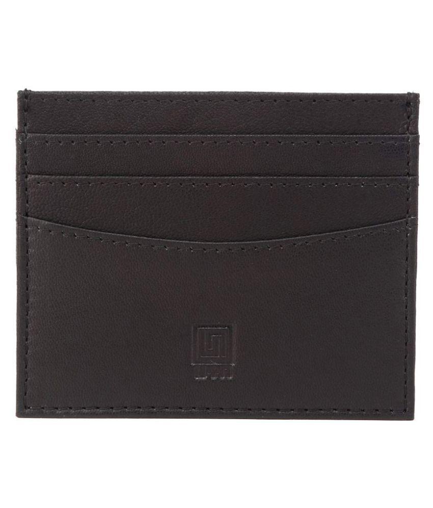 U+N Bi-Fold Black Card Holder