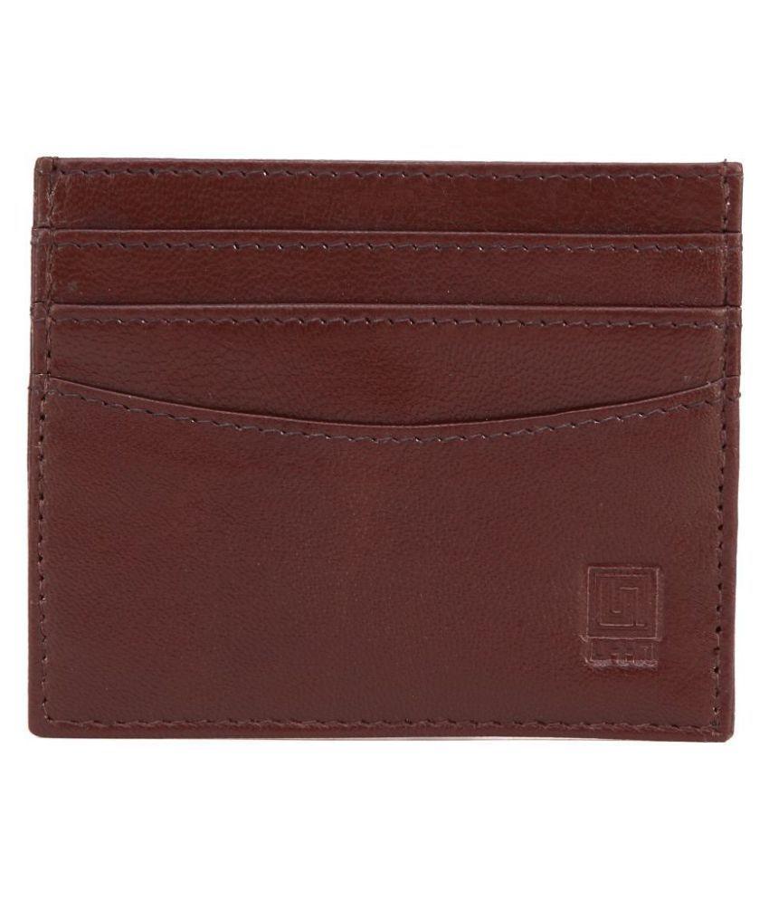 U+N Bi-Fold Brown Card Holder