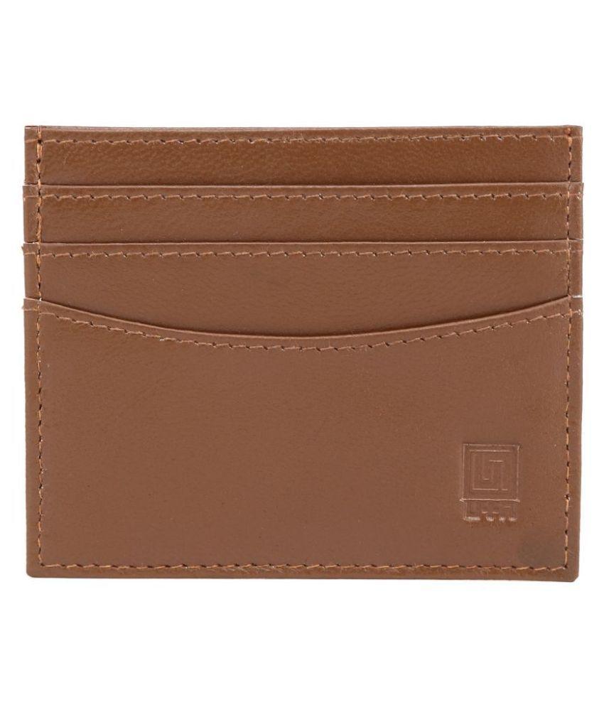 U+N Bi-Fold Tan Card Holder
