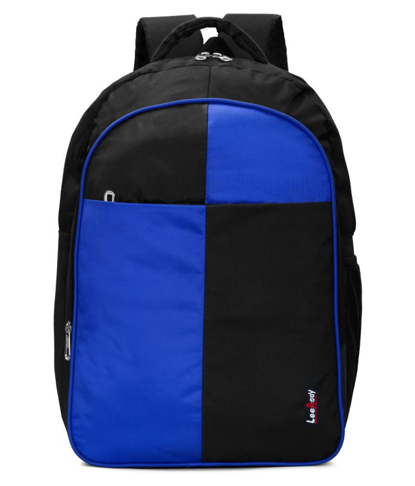 LeeRooy Blue Canvas College Bag
