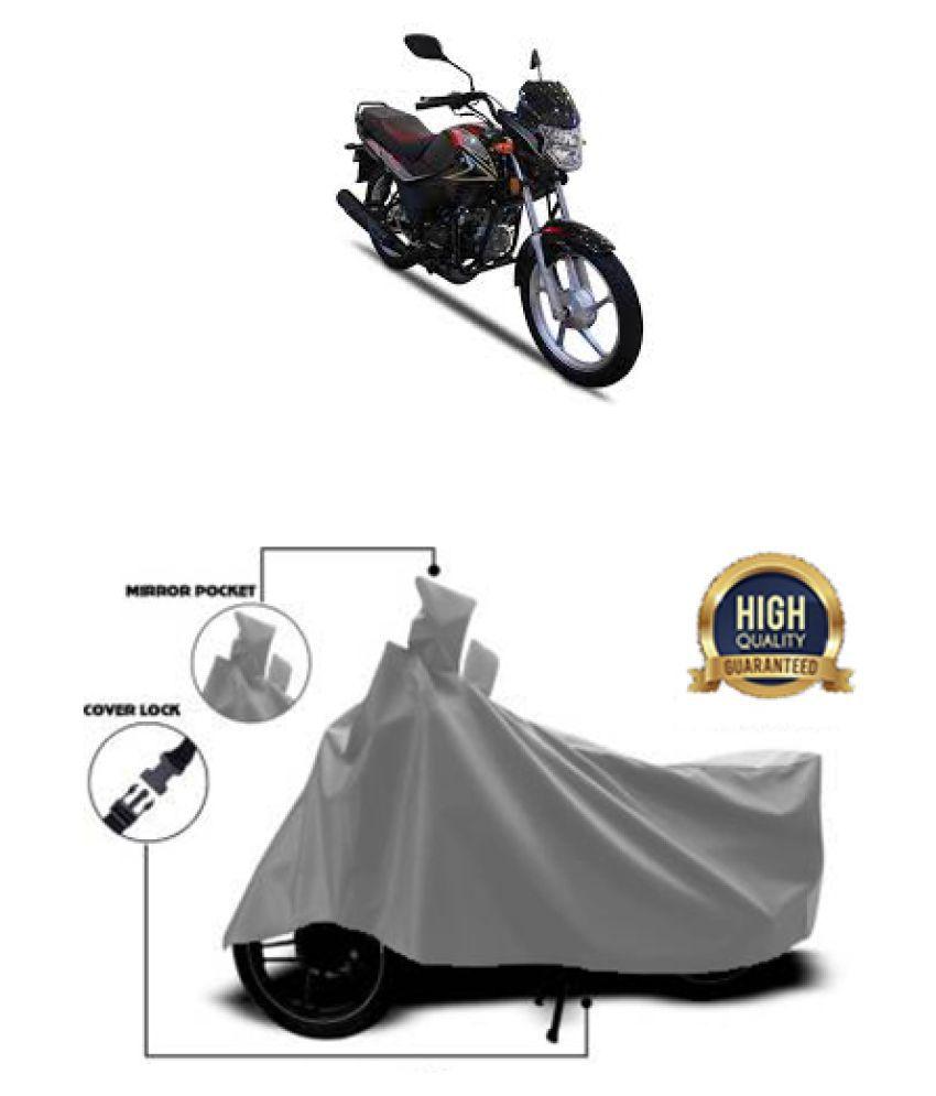 Motohunk two wheeler cover for Aftek Royal Plus Grey