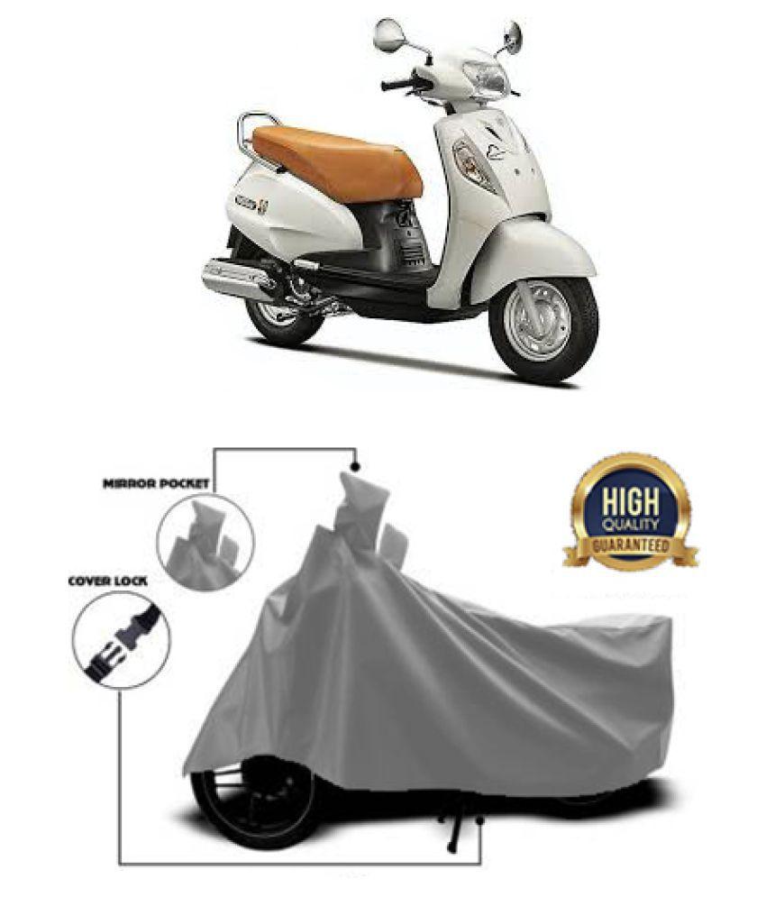 Motohunk two wheeler cover for Suzuki Access Grey