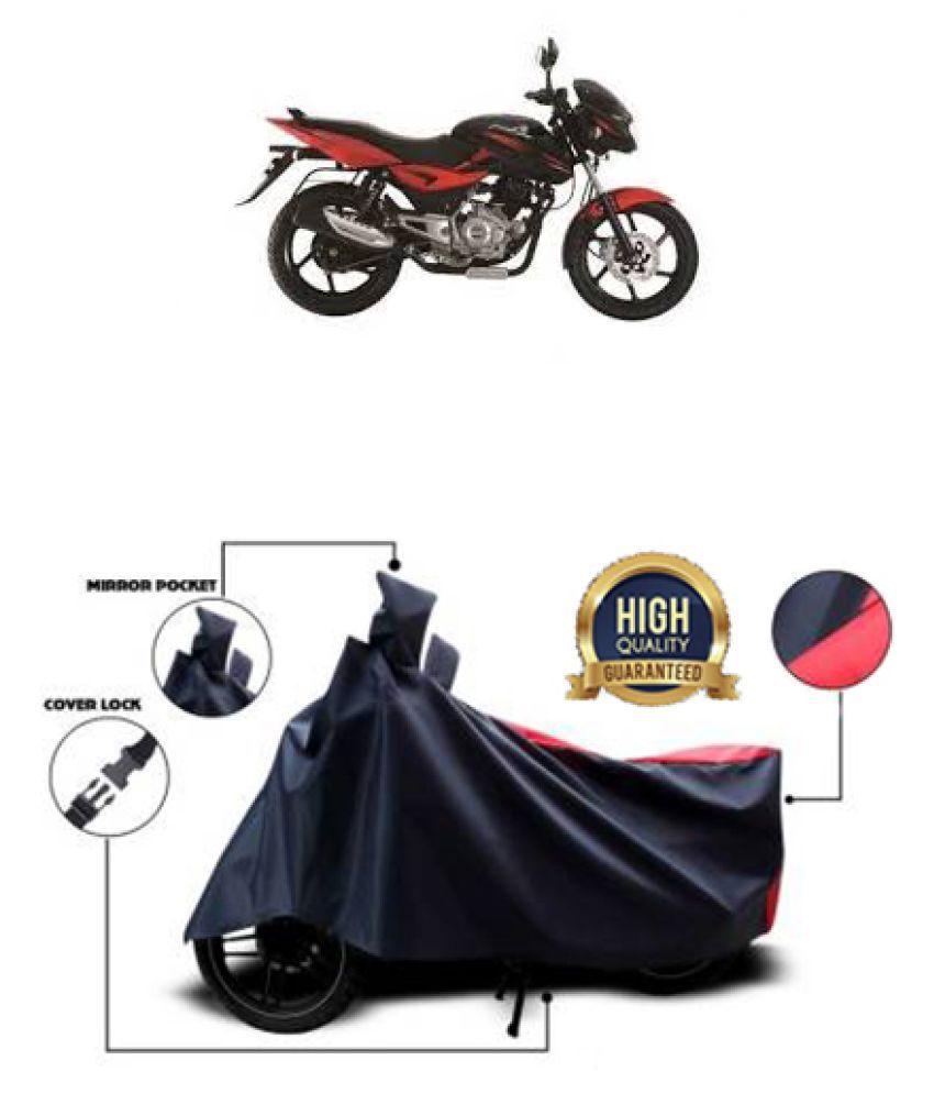 Motohunk two wheeler cover for Bajaj Pulsar DTSi (Red, Black)