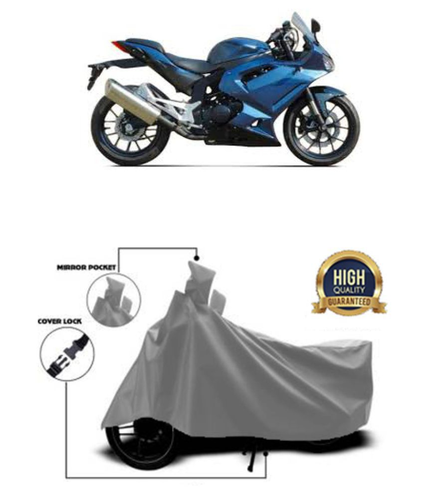 QualityBeast two wheeler cover for Hyosung GT300R Grey