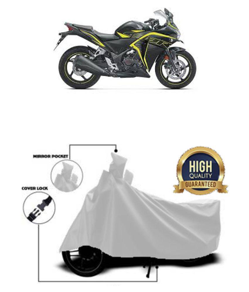 QualityBeast two wheeler cover for Honda CBR250R (Silver)