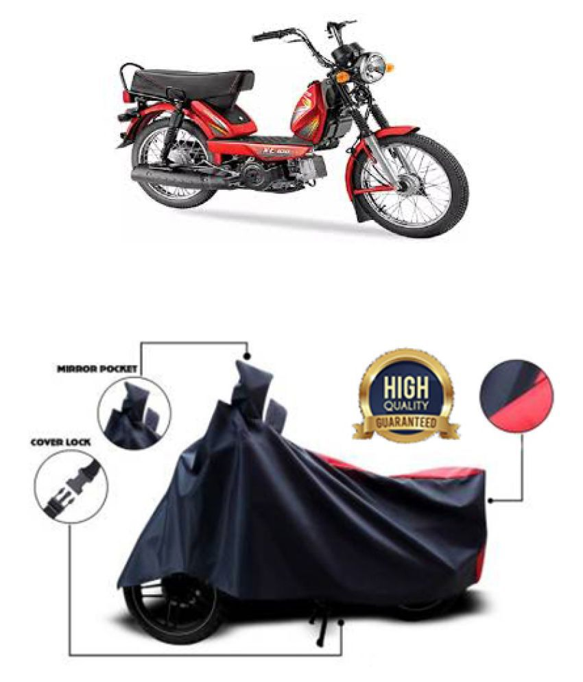 QualityBeast two wheeler cover for TVS XL 100 Comfort (Red, Black)
