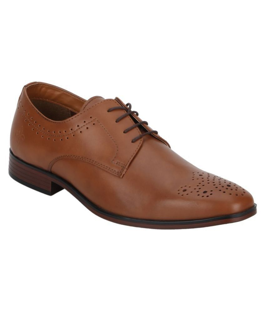 Bond Street By Red Tape Office Non-Leather Tan Formal Shoes