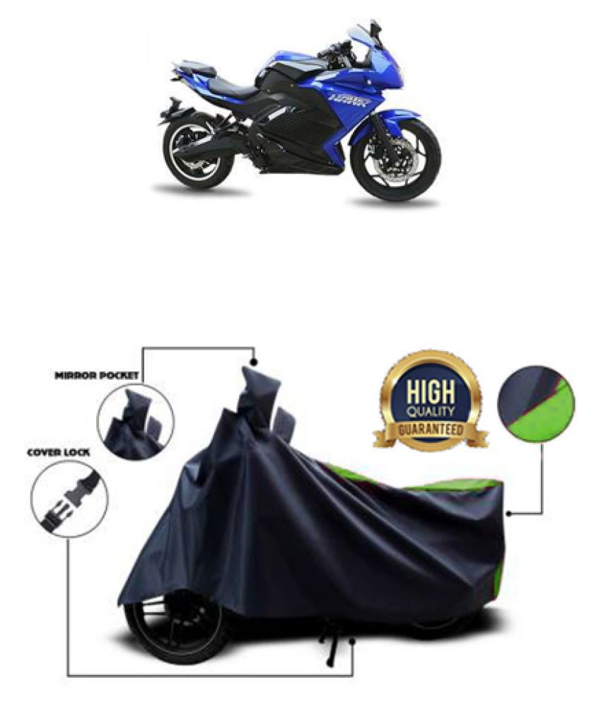 QualityBeast two wheeler cover for Evolet Hawk (Green, Black)