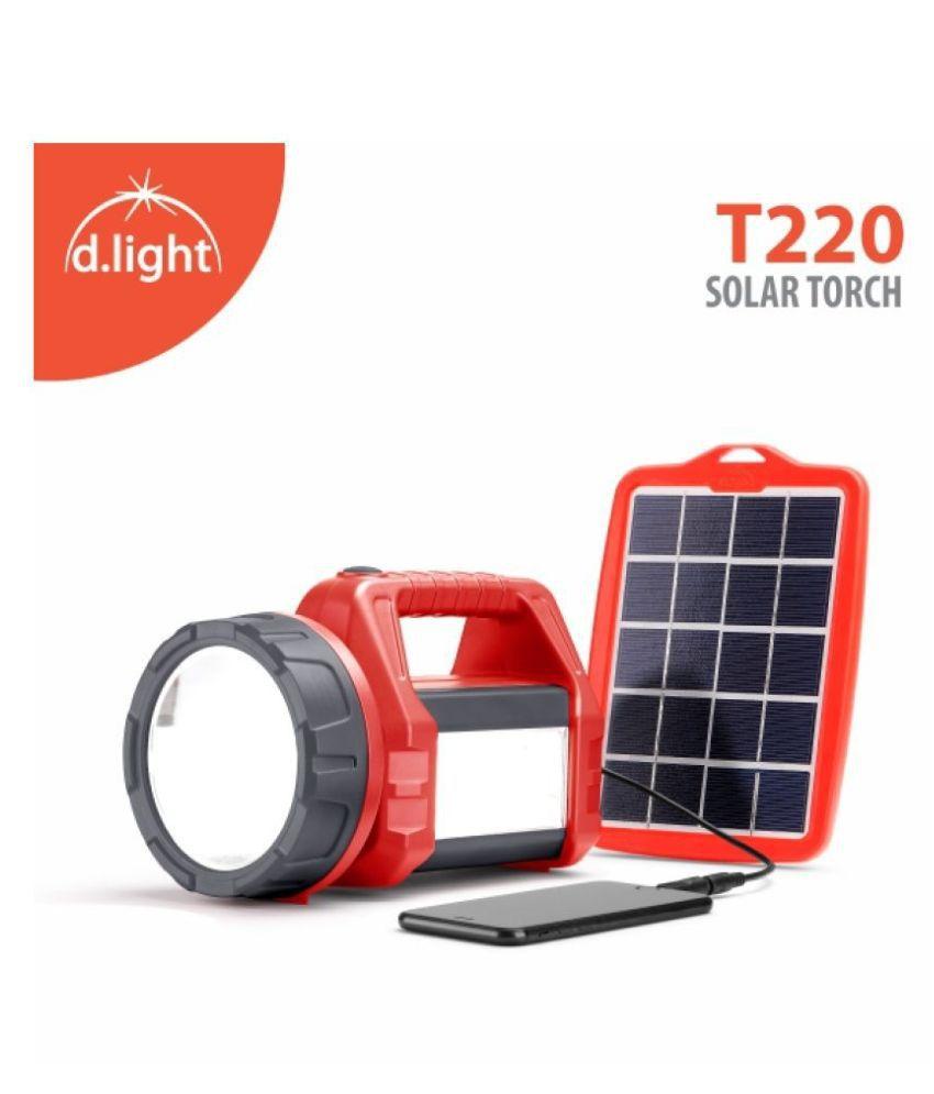 d.light 3W Flashlight Torch T220 - Pack of 1