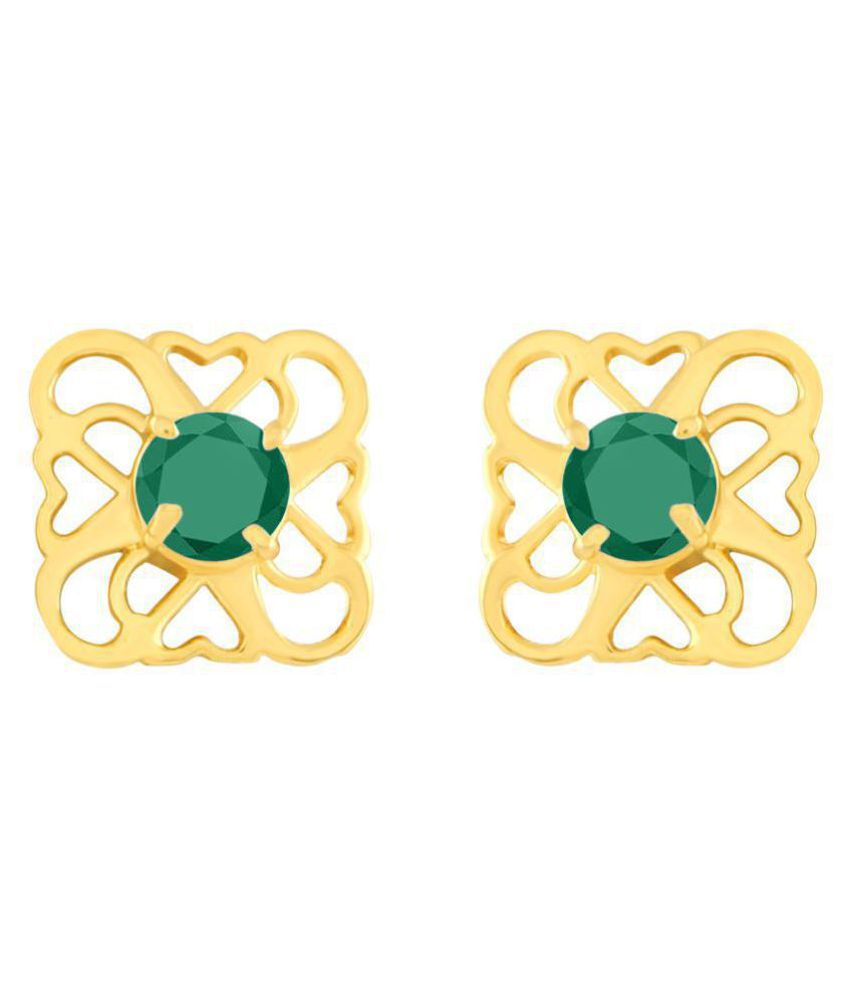 MFJ Fashion Jewellery Daily Wear Long Lasting Gold Plated Earrings for Girls and Women
